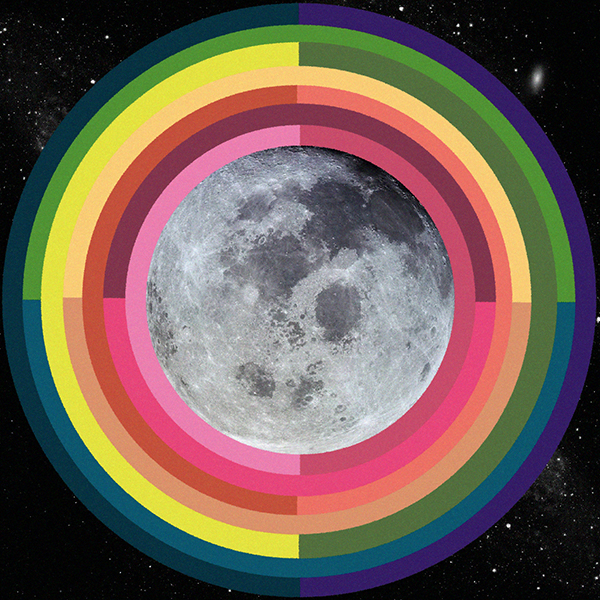 Full Moon January 2018 Lunar Eclipse Artwork by Sarah Faith Gottesdiener