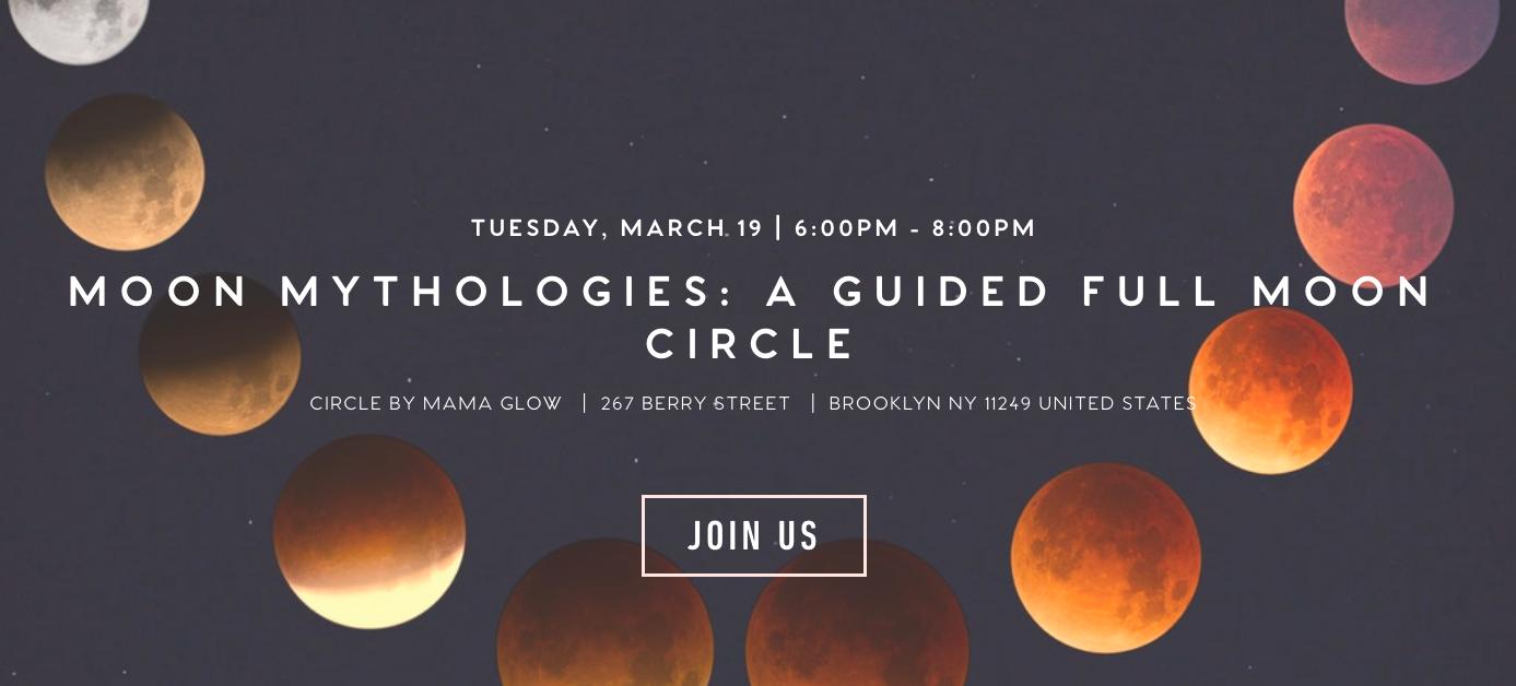 Sarah Gottesdiener Modern Women Visual Magic Brooklyn Moon Circle Full Moon Gathering Circle by Mama Glow Conscious City Guide Moon Mythologies