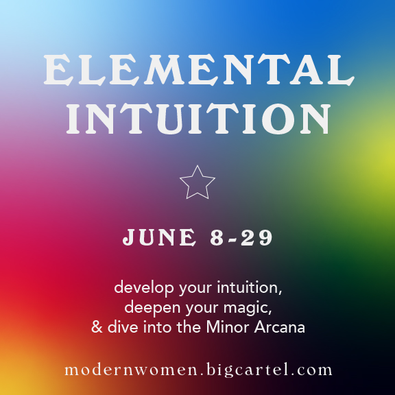 Elemental Intuition Online Course 2020 by Sarah Faith Gottesdiener_ModernWomen_ManyMoonds_TarotOnlineWorkshop
