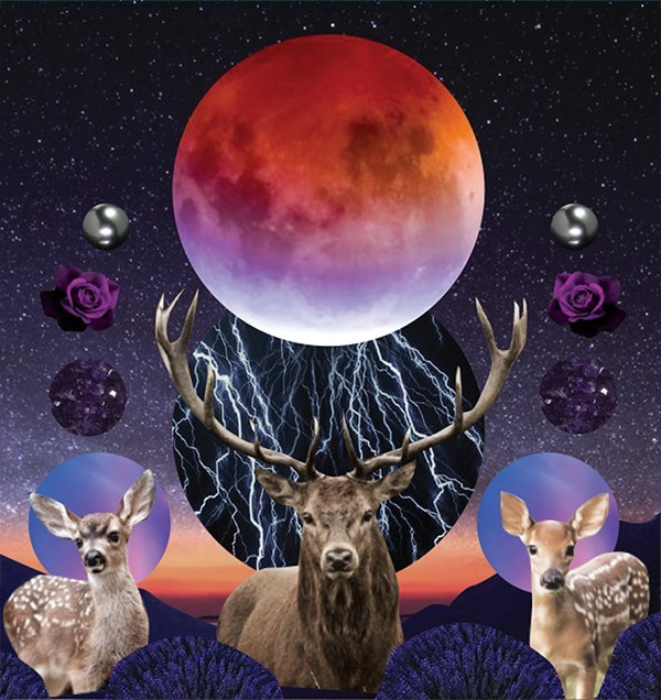 July 2020 Luanr Eclipse Tarotscope_Original Artwork by Sarah Faith Gottesdiener_Modern Women_Many Moons_Visual Magic